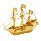 Metal Earth Golden Hind Ship Gold