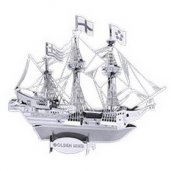 Metal Earth Golden Hind Ship
